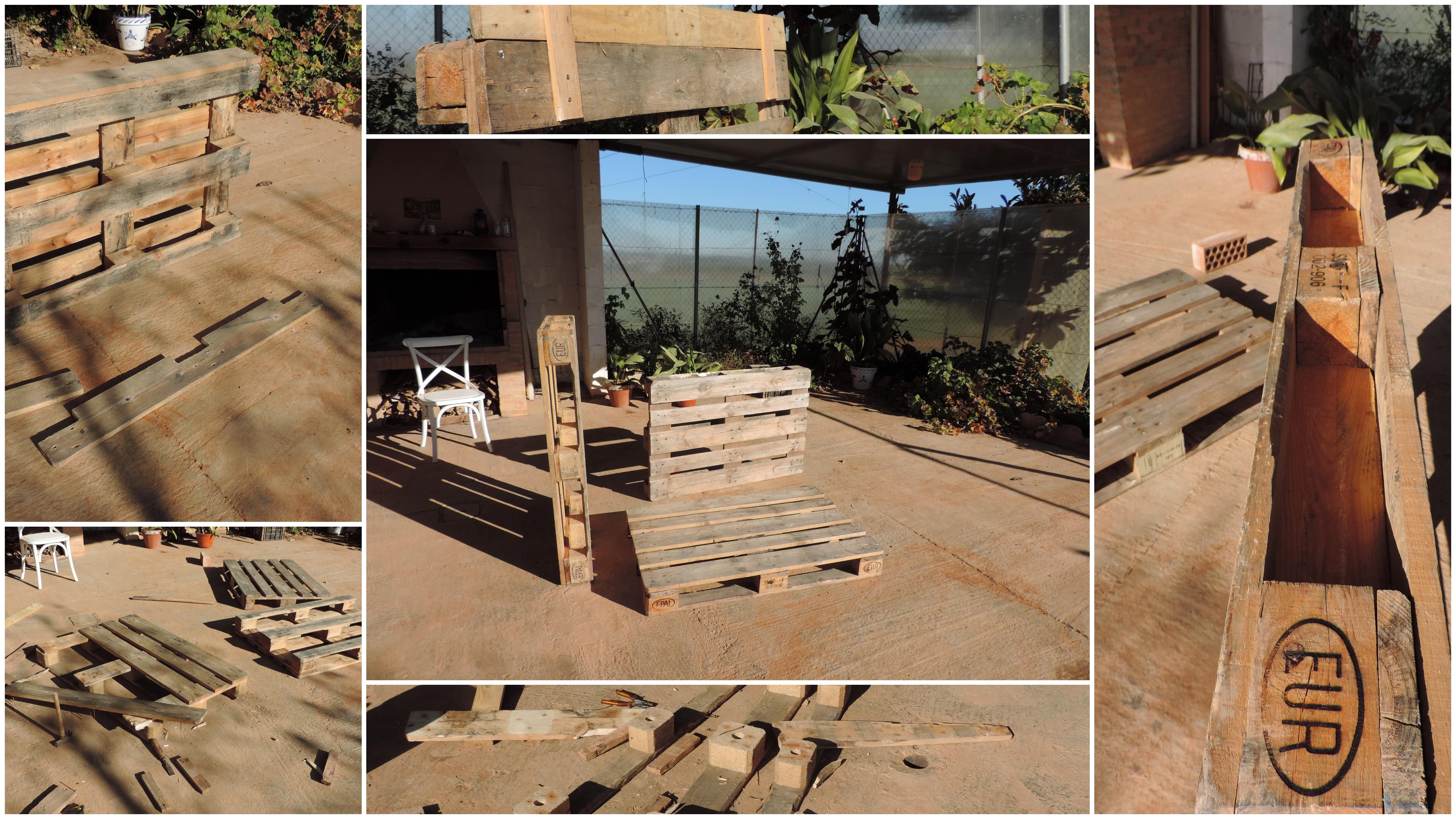 Construyendo el palet de hierbas arom ticas in mensa for Maceteros verticales con palets